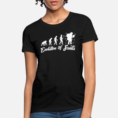 Primitive Man The Evolution of Santa Claus XMAS Primitive Man - Women's T-Shirt