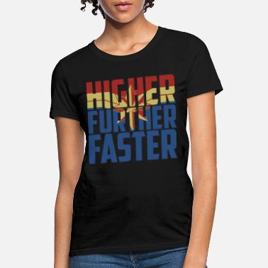 Marvel higher further faster movie captain marvel graphic - Women's T-Shirt