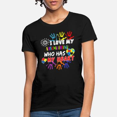 Autism Awareness Day Autism Awareness Tee I love my Awesome Friend - Women's T-Shirt