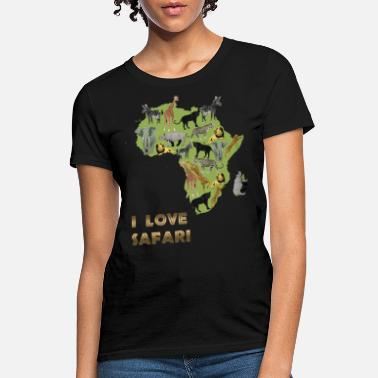 Fuck Yeah I love safari animals elephant lion science - Women's T-Shirt