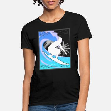 Surf With The Waves Surfing Gift Ideas T-Shirt - Women's T-Shirt