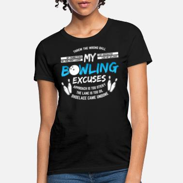 My Bowling Excuses Funny Mens T shirt
