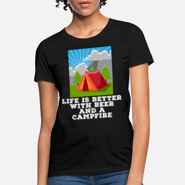 Beer Tent Camping Beer Drinking Tent Hiking Alcohol Gift - Women's T-Shirt