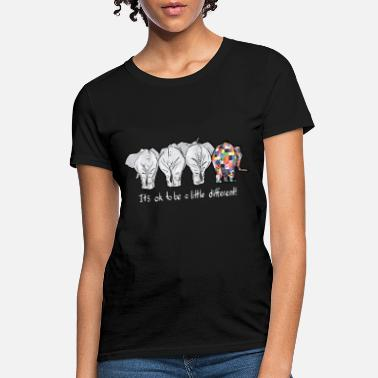 Different it is ok to be a little different elephant autism - Women's T-Shirt