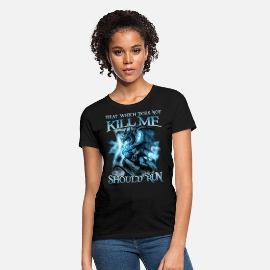Computer Science T-Shirts - that whicj does not kill me should run science - Women's T-Shirt black