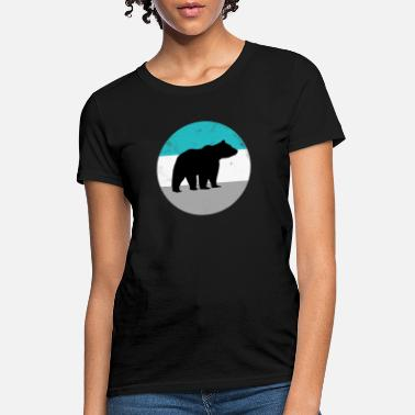 Grizzly Bear Retro Vintage Silhouette T Shirt - Women's T-Shirt