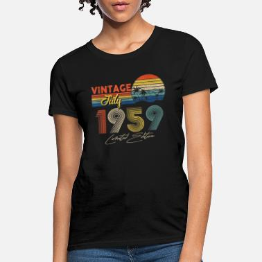 Old Fashioned Vintage July 1959 60th Birthday Gift 60 Years Old - Women's T-Shirt
