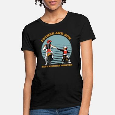Father And Son Motorbike Father And Son Gift - Women's T-Shirt