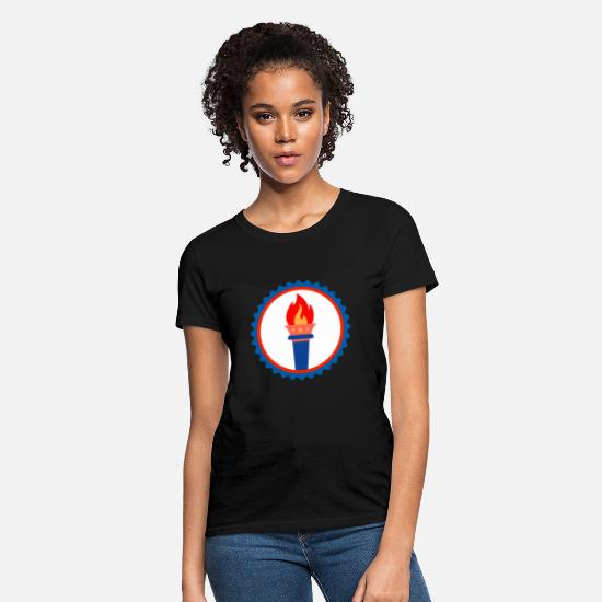 Continent T-Shirts - Freedom America Torch Gift - Women's T-Shirt black