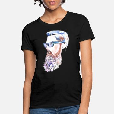 The Illustrated Man Watercolor man with beard illustration - Women's T-Shirt