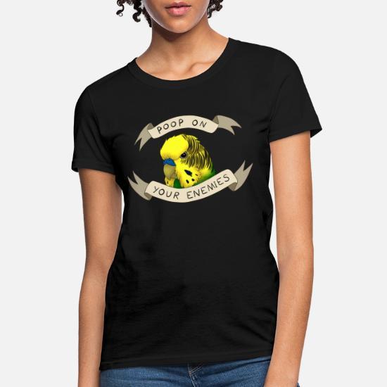 Vintage Retro Your Crazy is Showing Budgie Tshirt Animal Lover Women Sweatshirt tee