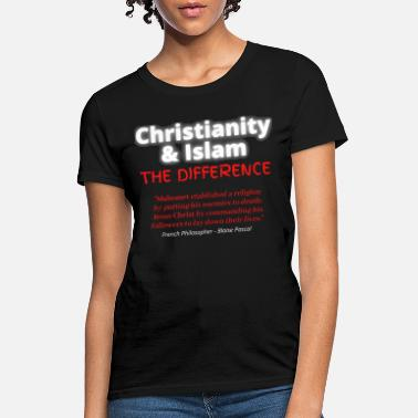 Islam Christianity Islam full black shirt - Women's T-Shirt