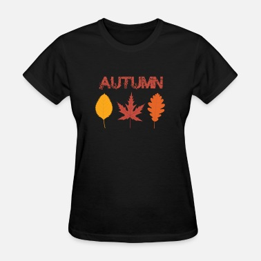 Autumn Logo autumn leaves gift present idea - Women's T-Shirt