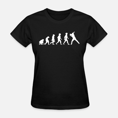 Evolution Of A Softball Evolution Baseball Softball Player Game - Women's T-Shirt