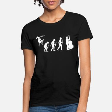 Bassist Double Bass - Funny Double Bass Evolution - Women's T-Shirt