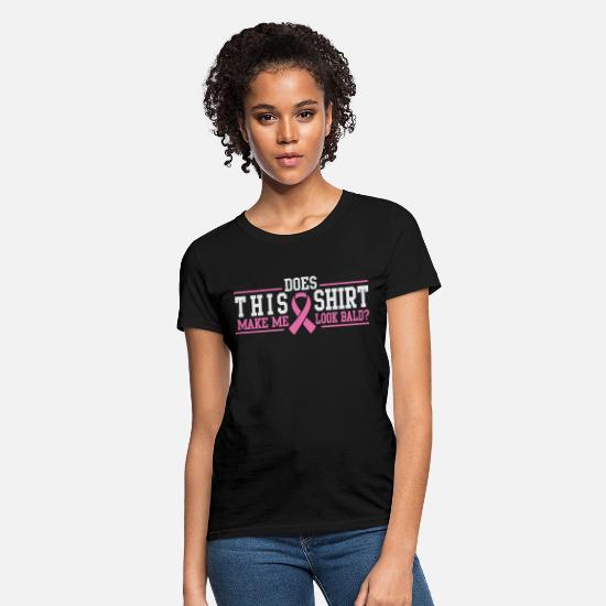 Cancer T-Shirts - Cancer - Does this make me look bald? - Women's T-Shirt black
