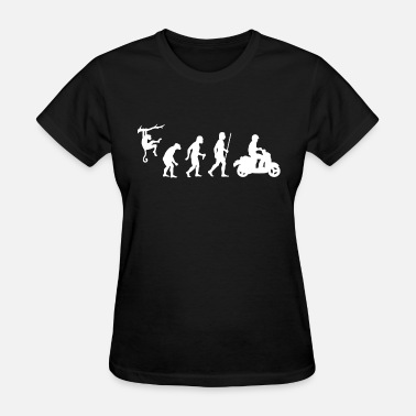 Scooter Evolution Scooter - Evolution of Man and Scooter - Women's T-Shirt