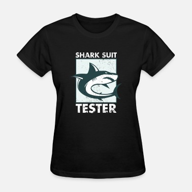 Back In Black Graduation FUNNY SHARK SUIT TESTER TSHIRT Amputee Gift - Women's T-Shirt