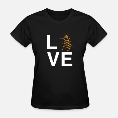 Awesome Unique Insects I Heart Hissing Cockroaches Tshirt Roach - Women's T-Shirt