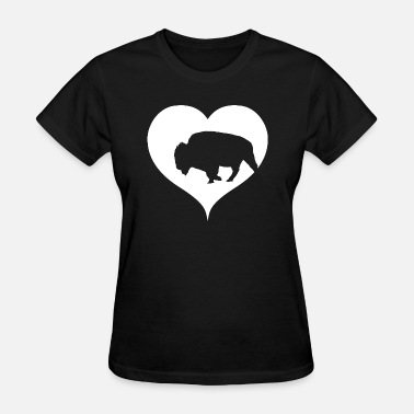 Bison Canada Bison Buffalo with heart - Women's T-Shirt