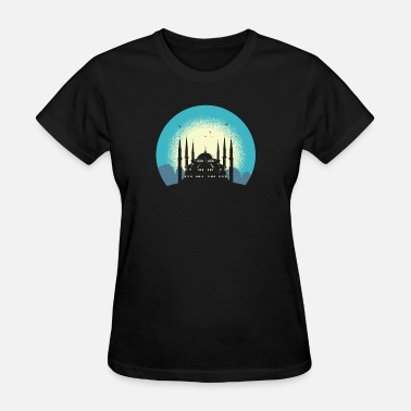 And Blue Islam Mosque - Women's T-Shirt
