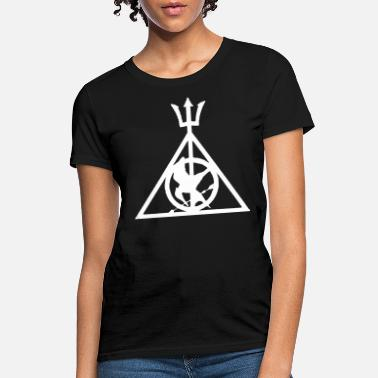 Deathly Ladies Deathly Hallows Symbol TShirt Harry Potte - Women's T-Shirt