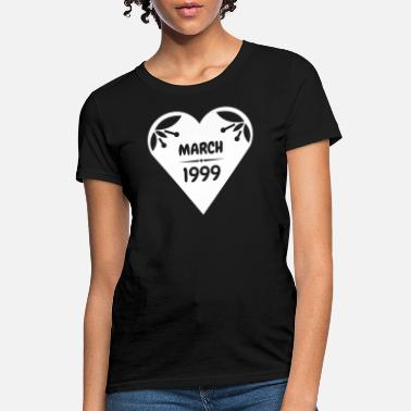 1999 March 1999 Heart - Women's T-Shirt