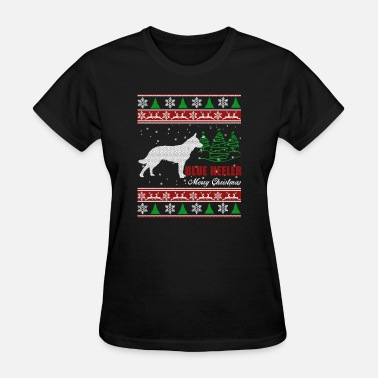 Blue Heeler In Blue Heeler Shirt - Blue Heeler Christmas Shirt - Women's T-Shirt