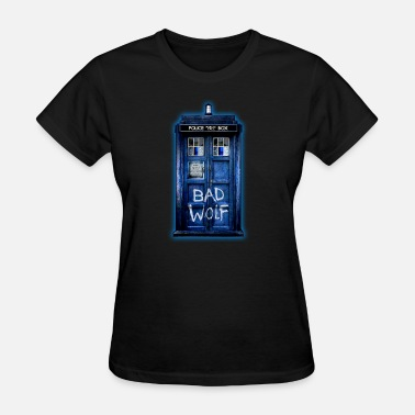 Adobe Photoshop Blue Phone booth graffitii - Women's T-Shirt