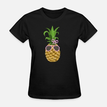 Sunglasses Vacation Pineapple Fruit Summer Vacation Sunglasses Sun - Women's T-Shirt