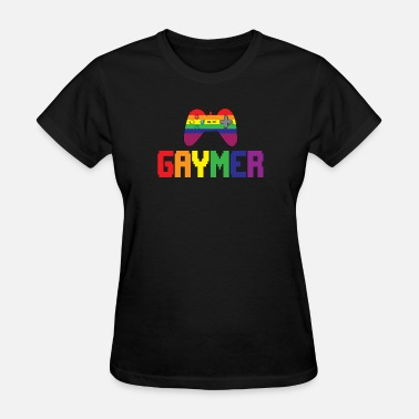 Gay Video Games Gay Gamer Gaymer Gaming Pride Gift - Women's T-Shirt