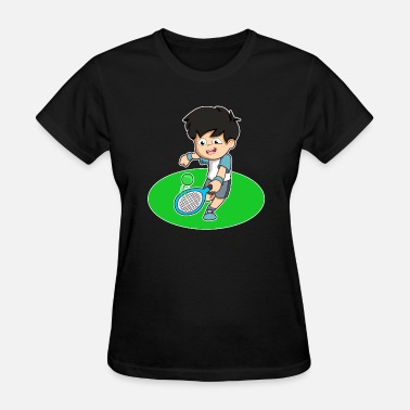 Caricature Design caricature fun player tennis gift idea - Women's T-Shirt