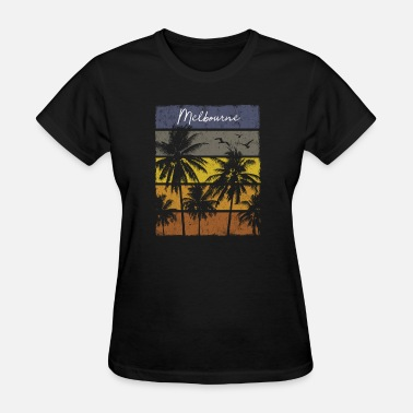 Melbourne Kids Retro Melbourne Beach Print Vacation Souvenir - Women's T-Shirt