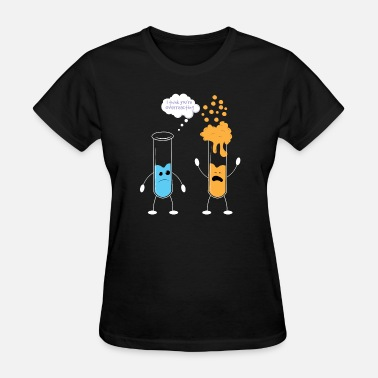 Large Hadron Collider Overreacting Test Tube Science Lab Gift Idea - Women's T-Shirt