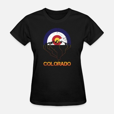 Rocky Mountain Love VINTAGE COLORADO FLAG ROCKY MOUNTAINS FUNNY GIFT - Women's T-Shirt