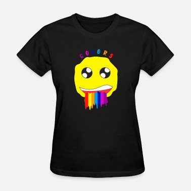 Puke Gay Colors Rainbow Smiley Puke funny party gift - Women's T-Shirt