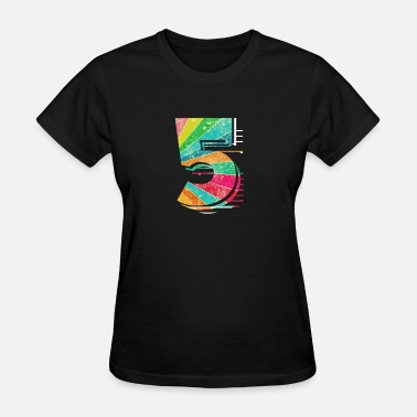 Kids Birthday Familie Clothing Kids Toddler 5th Birthday Design - Women's T-Shirt
