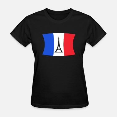 Normandie France Flag Eiffel Tower Paris Gift Travelling - Women's T-Shirt