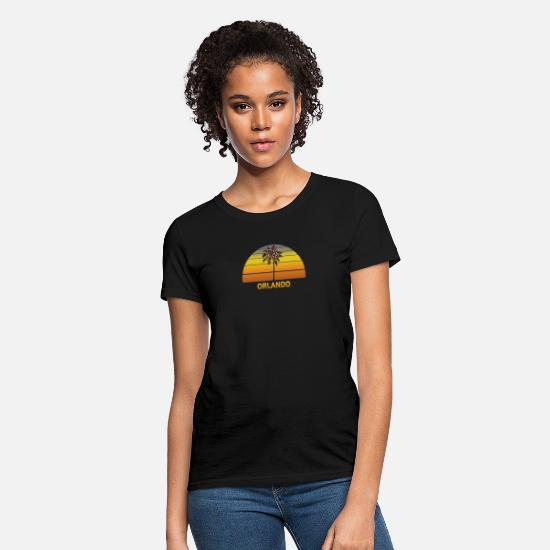 Family T-Shirts - Orlando Florida Palm Tree Christmas Lights Family - Women's T-Shirt black