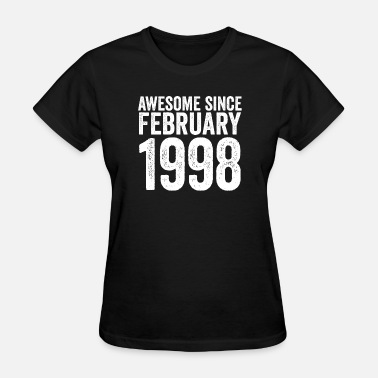 Vintage 1998 Birthday Awesome Since February 1997 - Women's T-Shirt