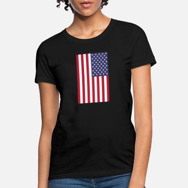 vertical American flag graphic design - Women's T-Shirt