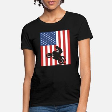 Wheelie american flag wheelie t shirt - Women's T-Shirt