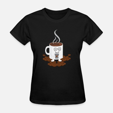 Funny Coffee Coffee cup gift coffee beans motive funny - Women's T-Shirt
