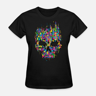 Cyber Pirate Hacker Skull Anonymous - Women's T-Shirt