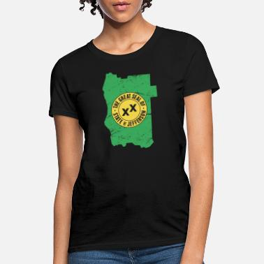 State Border State Of Jefferson | Borders & Seal - Women's T-Shirt