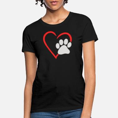 Dog Paw Animal Lover Dog Paw - Women's T-Shirt