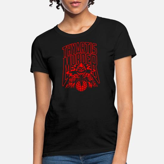 Thy Art is Murder Logo T-Shirt Womens Short Sleeve Stylish Round Neck Tshirts