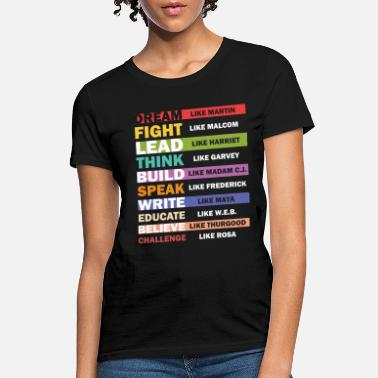 Black Modern Black Leaders Text - Black History Month - Women's T-Shirt