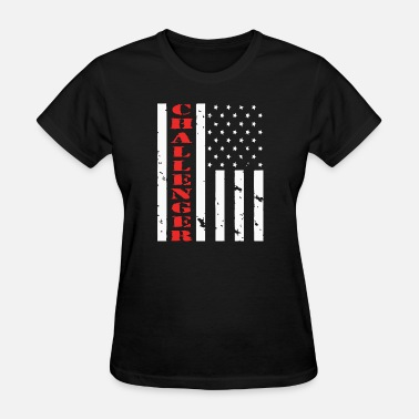 Dodge-challenger-american-muscle-car-t... CHALLENGER AMERICAN FLAG - Women's T-Shirt