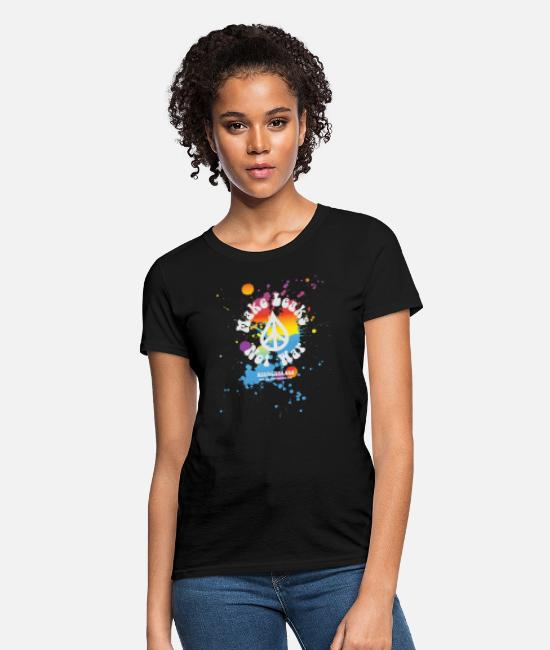 News Leaks T-Shirts - Make Leaks Not War WikiLeaks - Women's T-Shirt black